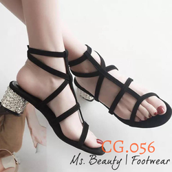 Giày cao gót dây chéo