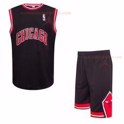 Quần áo bóng rổ Chicago Bulls đen || Áo bóng rỗ Chicago Bulls 2