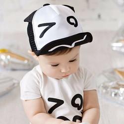 mũ đen trắng đáng yêu ngộ nghĩnh