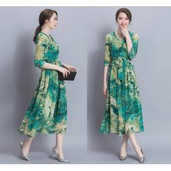 Đầm maxi họa tiết độc đáo