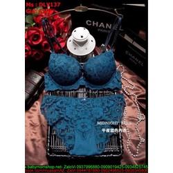 Sét đồ lót nữ chất liệu ren hoa nổi sành điệu sexy DLV137