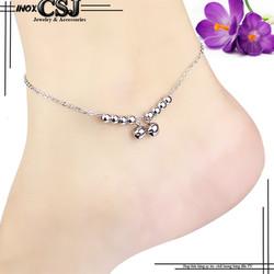 Lắc chân inox nữ 2 chuông đẹp-hàng xịn-giá rẻ