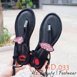 Giày sandal kẹp môi hồng