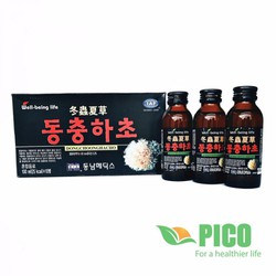 Nước Đông Trùng Hạ Thảo Hàn Quốc Hộp 10 Chai