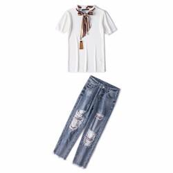 Set Áo T-Shirt  Quần Jean 4607