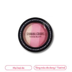 #Phấn Má Hồng Sivanna Color Baked Blush