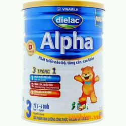 sữa bột khuyến mãi mở hàng Diealac alpha thường step 3 date 2019