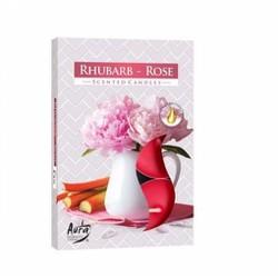 Bộ 5 hộp 30 nến tealight thơm Rhubarb Rose Bartek Candles FtraMart