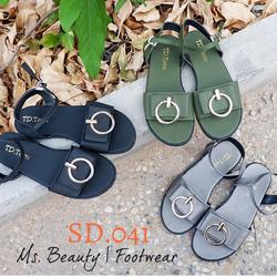 Giày sandal quai khóa tròn