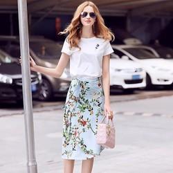 Sét áo thun váy hoa - hàng nhập cao cấp