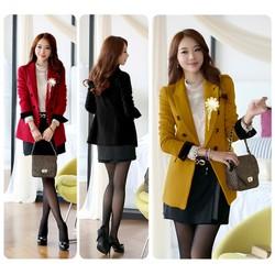Áo khoác vest blazer tay dài đính hoa YKAK95