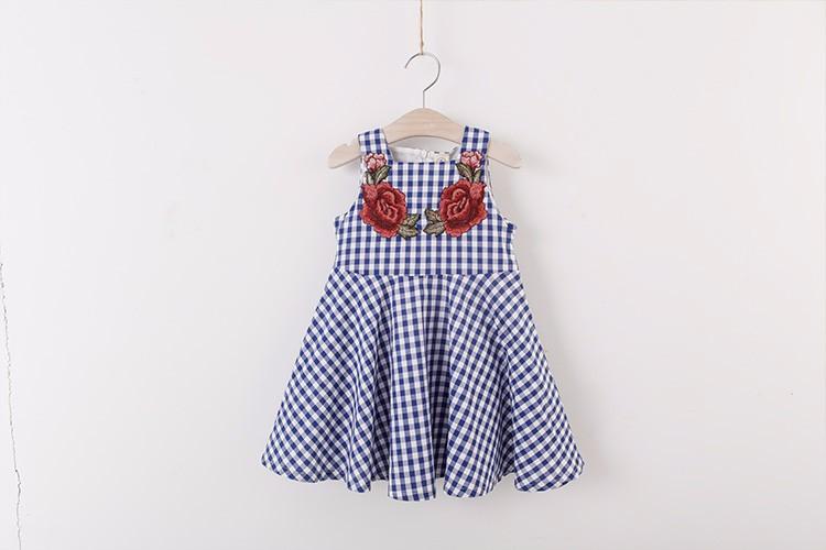 Đầm sọc carô bé gái 5- 6 tuổi 8