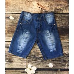 Quần short jean sọc rách