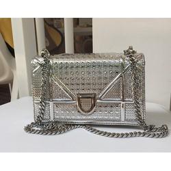 Túi xách nữ màu bạc mini