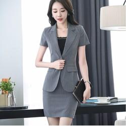 Set áo vest và chân váy ôm công sở -VS239