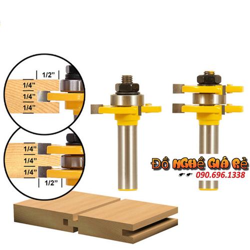 Bộ mũi dao phay gỗ ghép mộng ván âm dương cốt 12ly7 - mủi lưỡi soi máy phay gỗ router cầm tay - 12159828 , 6362216 , 15_6362216 , 460000 , Bo-mui-dao-phay-go-ghep-mong-van-am-duong-cot-12ly7-mui-luoi-soi-may-phay-go-router-cam-tay-15_6362216 , sendo.vn , Bộ mũi dao phay gỗ ghép mộng ván âm dương cốt 12ly7 - mủi lưỡi soi máy phay gỗ router cầm t