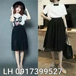 Chân váy ren thời trang Hàn Quốc L12NV151