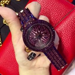 Đồng hồ sách tay đá tím mặt cờ anh siêu sang thiết kế tinh tế-184