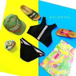 Bikini set hai mảnh phối sheer lưới
