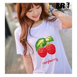 Áo thun xinh in hình trái cây