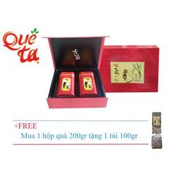 Hộp quà trà ô long cao cấp Quê Ta đỏ + tặng gói 100gr