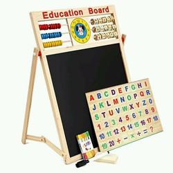 Bảng nam châm ghép hình 2 mặt đa năng tặng kèm bộ chữ số cho bé