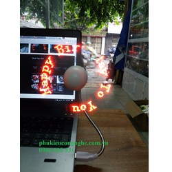 Quạt đèn LED USB tự tạo chữ, thông điệp giá rẻ