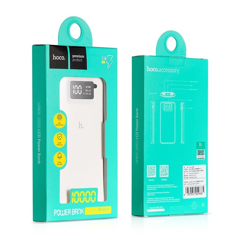 HOCO - Pin Sạc dự phòng UPB05 LCD 10000Mah 6