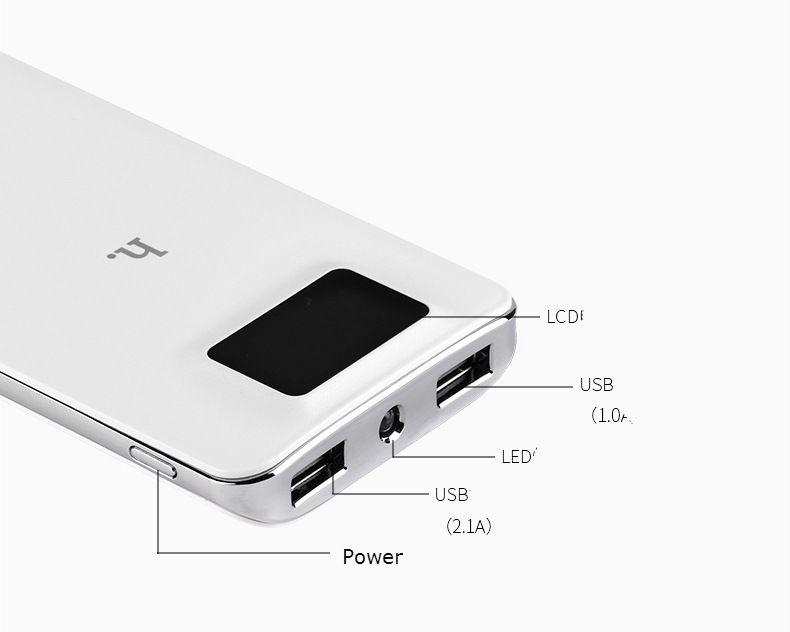 HOCO - Pin Sạc dự phòng UPB05 LCD 10000Mah 5