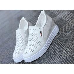 Giày tăng chiều cao nữ - Giày slip on độn  đế 6cm - giày nữ - giày đẹp