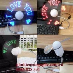 Quạt đèn LED USB tự tạo chữ, thông điệp