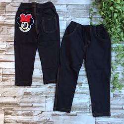 Quần dài thun giả jeans thêu mickey - size 9 và 10