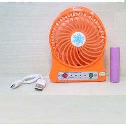 Quạt sạc mini 3 số kiêm đèn LED Vega Fan - Quạt usb để bàn mini