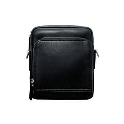 Túi đeo chéo nam da bò thật cao cấp màu đen.