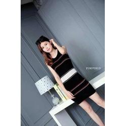 Đầm body len sọc sát nách hàng nhập - MS: S190720 Gs:120k