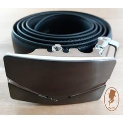Thắt lưng dây nịt nam da trơn màu đen TL00175-2
