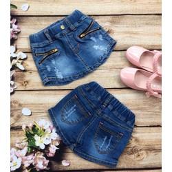 Quần bé gái sort jean giả váy cute mùa hè