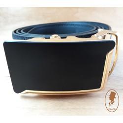 Thắt lưng dây nịt nam da trơn màu đen TL00163-2