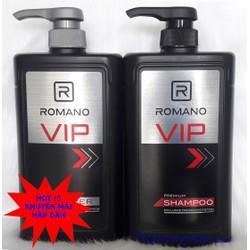 Bộ Dầu Gội Và Sữa Tắm Romano Vip 650g
