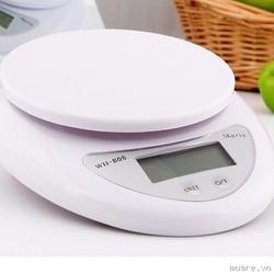 Cân điện tử thực phẩm cho nhà bếp từ 5kg + 2 pin AAA