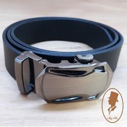 Thắt lưng dây nịt nam da trơn màu đen TL88-2