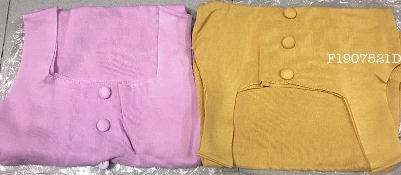 Đầm body len bèo nút hàng nhập - MS: S190701 Gs 125k 2