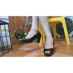 Giày cao gót hở mũi cao 7 cm