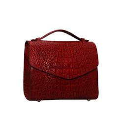 Túi xách nữ da bò thật cao cấp màu đỏ đô