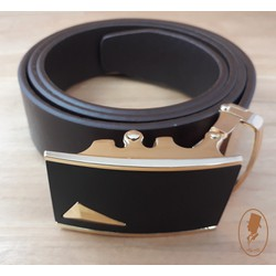 Thắt lưng dây nịt nam da trơn màu đen TL00159-2