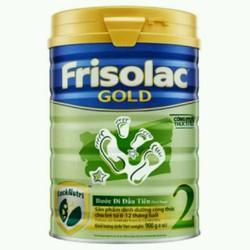 sữa bột khuyến mãi mở hàngFrisolac gold step2 hộp thiếc 900g date 2019