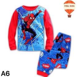 [size 9-15] Bộ thun tay dài bé trai hình siêu nhân nhện