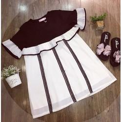 Đầm babydoll viền bèo
