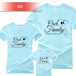áo gia đình nhiều màu