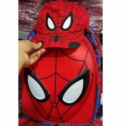 Balo kèm mũ hình siêu nhân nhện cho bé tiểu học